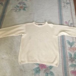 DKNY Unisex 100% Cotton Rolled Collar Sweater L